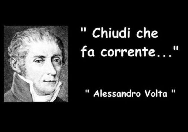Chiudi che fa corrente Alessandro Volta