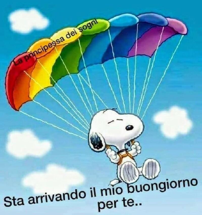 Buongiorno arcobaleno Snoopy