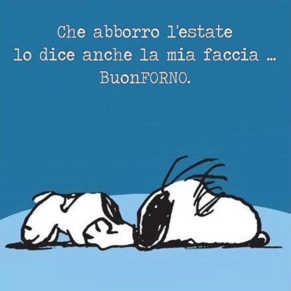 Buongiorno fa caldo Snoopy